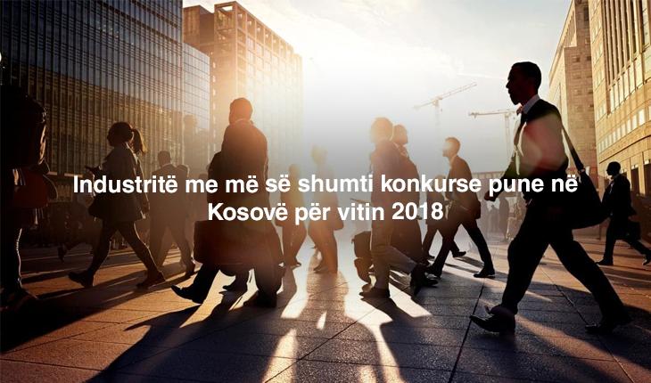 Industritë me më së shumti konkurse pune në Kosovë