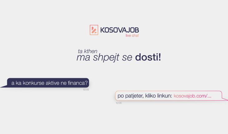 KosovaJob ofron mbështetje për vizitorët e saj nëpërmjet Live Chat