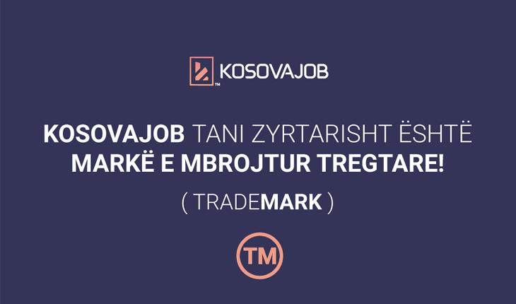 KosovaJob tani zyrtarisht është markë e mbrojtur tregtare